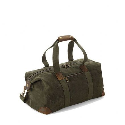 Retro Holdall Olive Green 19L
